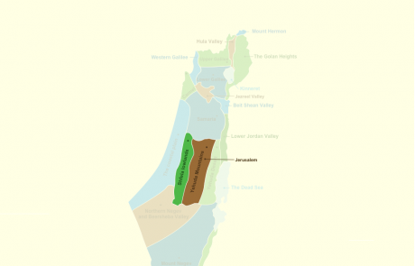 Sites & Regions in Jerusalem surrounding area & Yehuda Mountains