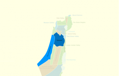 Sites & Regions in Samaria, the Coastal Plain, and the Sharon