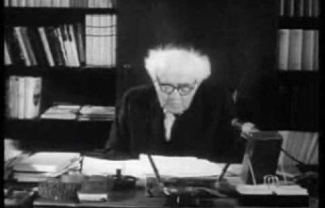 David Ben-Gurion's 'One Million Plan'