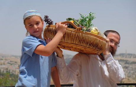Reenactment of the Biblical Shavuot First-Fruits & Twin Loaves Offerings