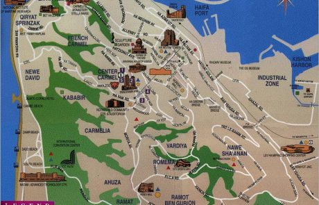Haifa Maps: Attractions & Public Transportation Routes
