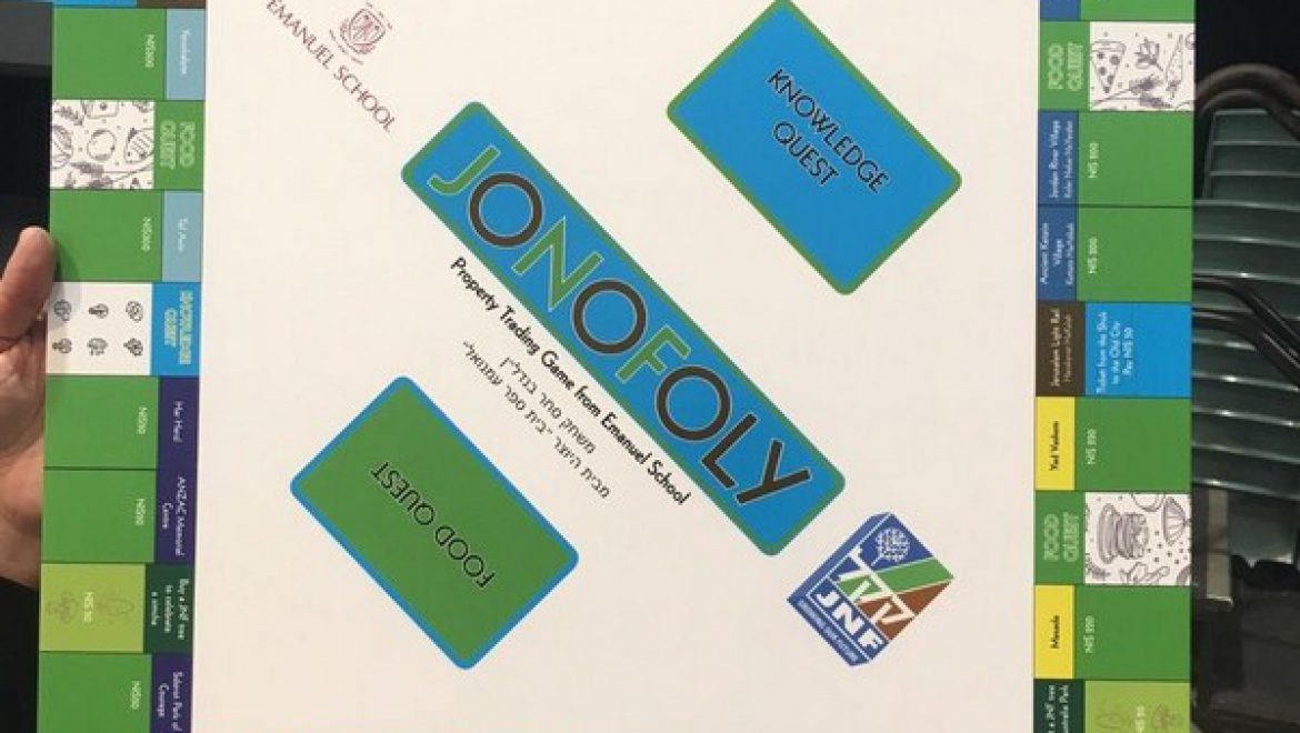 KKL-JNF Monopoly Game Created by Australian Educators