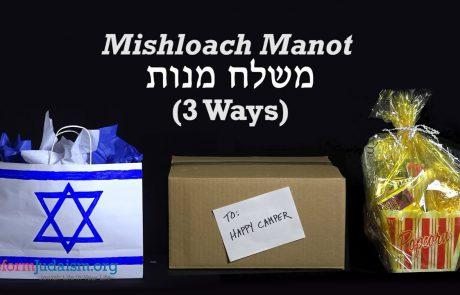 3 Creative Mishloach Manot Ideas