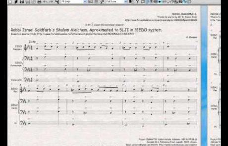 Sheet Music for Israel Goldfarb's Shalom Aleichem