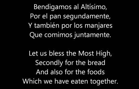 Bendigamos Al Altísimo: A Spanish Grace After Meals Hymn (Audio & Text)