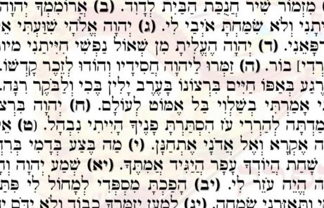 Psalm 30: The Daily Psalm of Hannukah