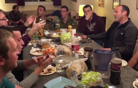The IDF Rabbinical Choir Sings Eishet Chayil at Dinner