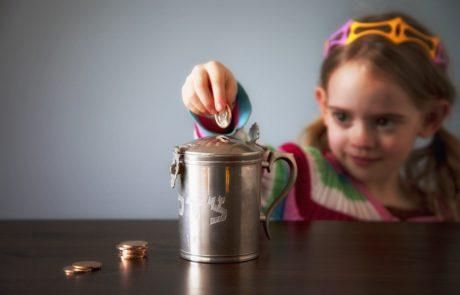Pre-Candle-Lighting Tzedakah Custom for Children